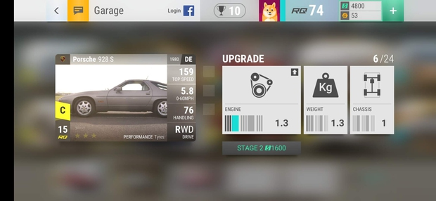Screenshots van de race game Top Drives