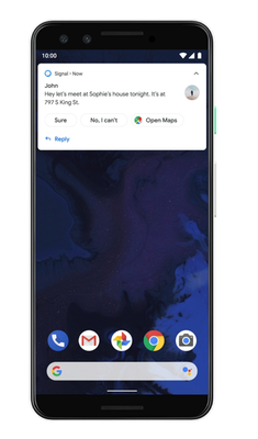 Google Smart Reply Android Q
