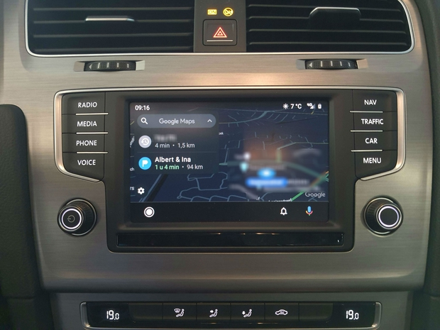 Android Auto actuele weer