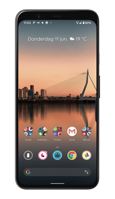 App-suggesties in de Pixel Launcher