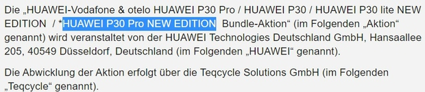 Gerucht Huawei P30 Pro New Edition