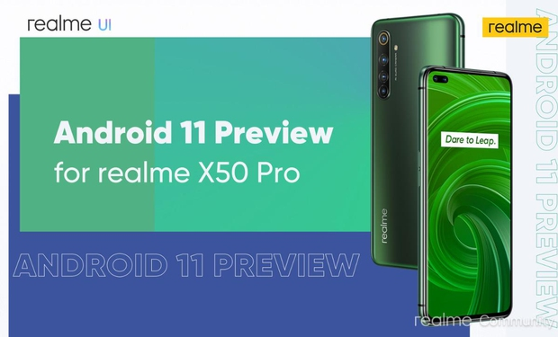 Realme X50 Pro Android 11 preview