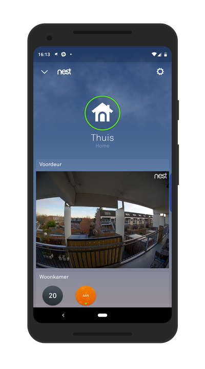 Screenshot van Nest Hello app