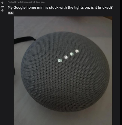 Defecte Google Home Mini