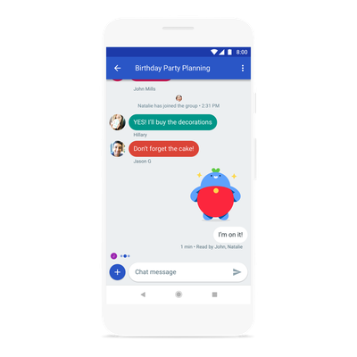 Android messages Group Chat