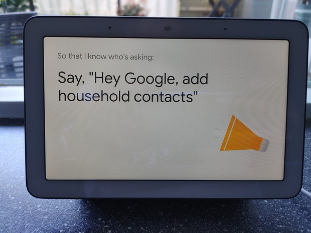 Household contacts op de smart display