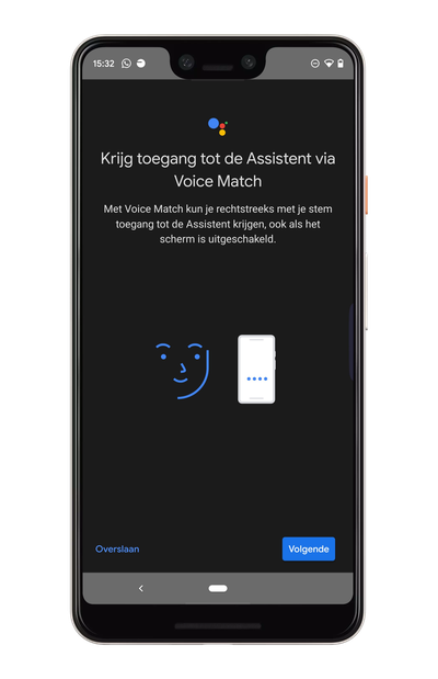 Voice Match op de Pixel 3 XL