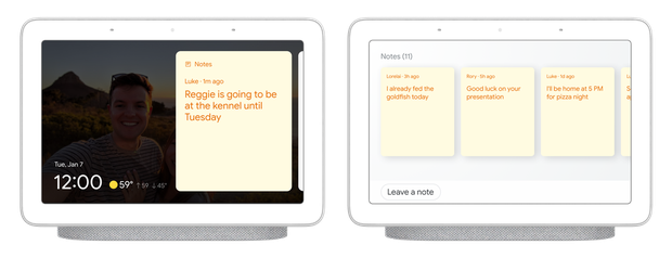 Google Assistent Digitale post-its