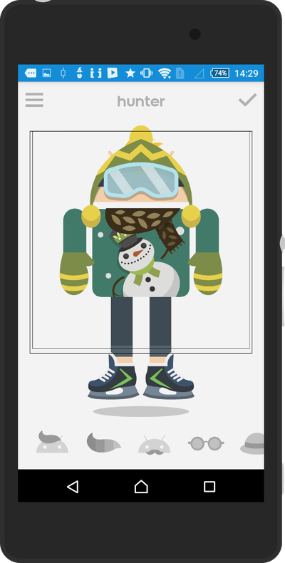 Androidify winter update